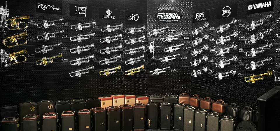 wall of trumpets